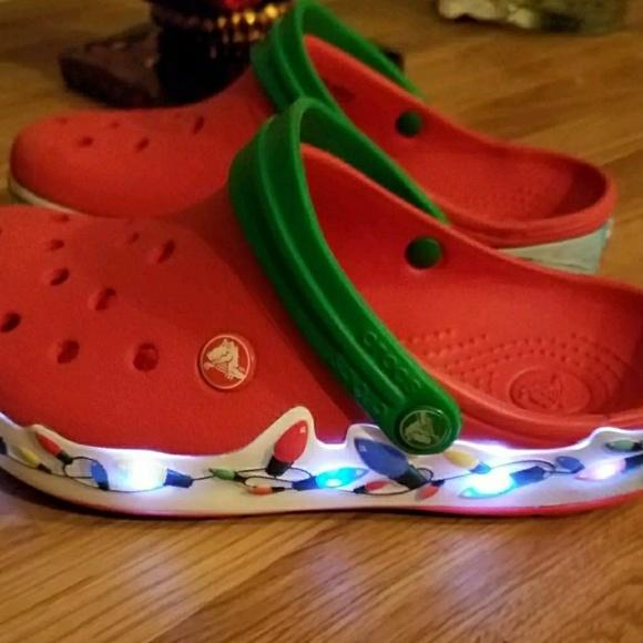 Crocs Christmas Light Up Shoes Clogs Sz